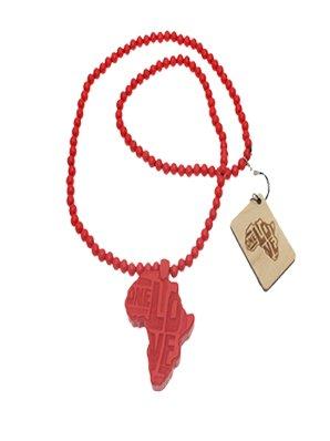 Collier Wood Fellas Afrique rouge