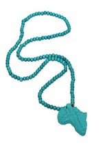 Wood Fellas necklace Jesus turquoise