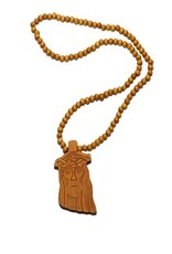 Wood Fellas Kette Jesus Hellbraun