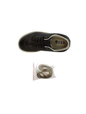 Radii Noble Low. Black Leather Cream