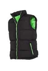 Urban Classics Contrast Bubble Vest Black Light Green