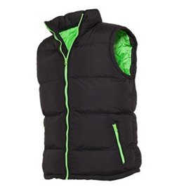 Urban Classics Contrast Bubble Vest Black Light Green