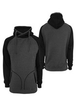 Urban Classics Light Fleece Hoodie Charcoal/Black