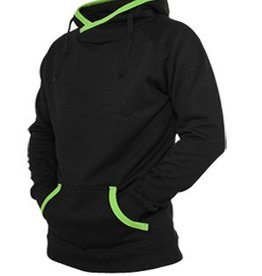 Urban Classics Light Fleece Long Hoody Black/Limegreen