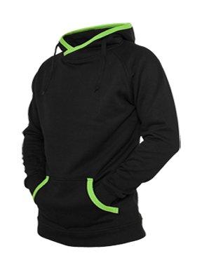 Urban Classics Diagonal Zip Hoody BlackRasta Jaza Fashion