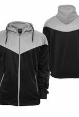 Urban Classics Arrow Sport Zip Hoody Black/Grey