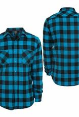 Urban Classics Checked Flanell Shirt Black/Türkis