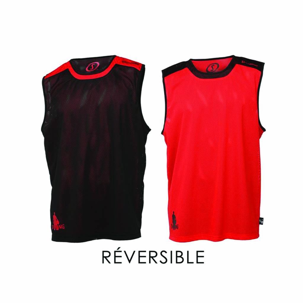 Spalding Reversible Shirt Rot/Schwarz   Schwarz/rot