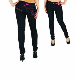 Dada Ladies Skinny Mary Raw Black