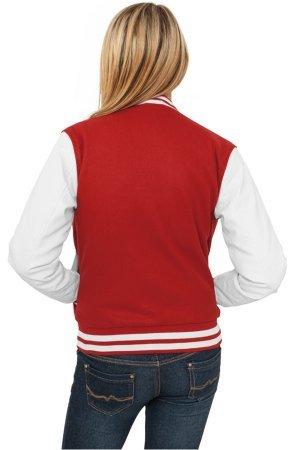 Urban Classics Ladies College Jacket Rouge Blanc
