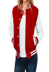 Urban Classics Ladies College Jacket Red White