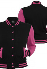 Urban Classics Ladies College Jacket Black/Türkis