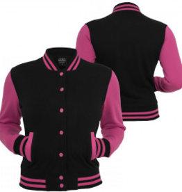 Urban Classics Ladies College Jacket Black/Türkis