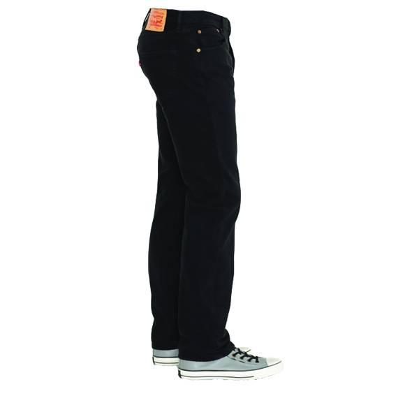 Levi's 501, Straight Leg Button Fly Jeans (Black)