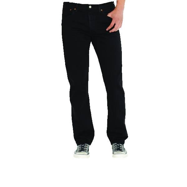 Levi's 501, Straight Leg Button Fly Jeans (Noir)