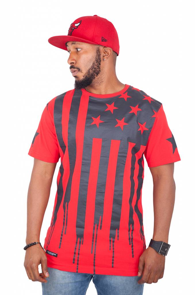 CAYLER & SONS BLACK LABEL V$A TEE RED/BLK