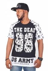 T-Shirt Homme Madmext avec Motif The Dead Head 98 Manches Courtes Noir / Blanc