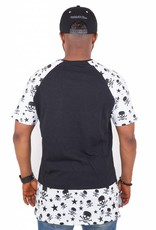 Madmext Men's T-Shirt with Motif The Dead Head 98 Short Sleeve Black / White