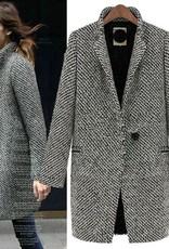 Jaza Fashion Wollmantel Damen Regular Wollmantel
