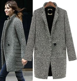 Jaza Fashion Wool Coat Ladies Regular Wool Coat