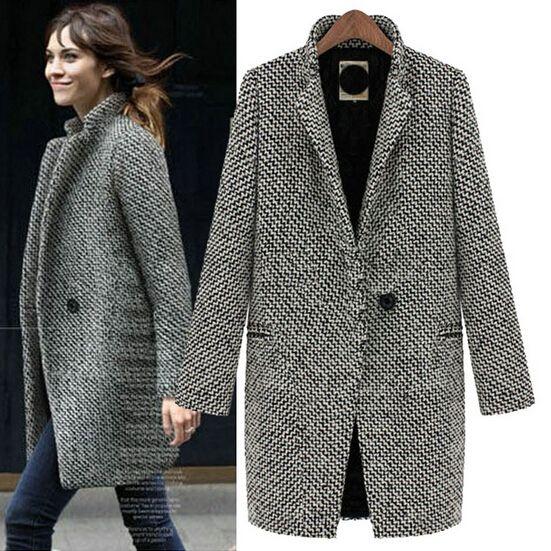 Jaza Fashion - Manteau en laine et dames - Manteau en laine