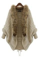 Jaza Fashion Dames Cardigan Manteau Cardigan Beige / Brun clair