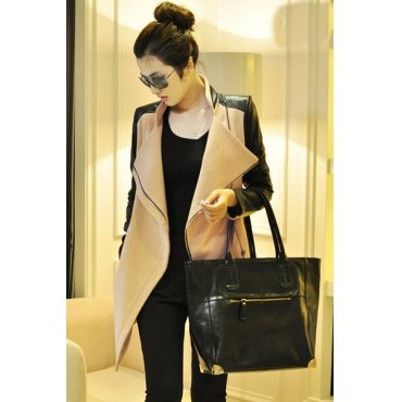Jaza Fashion Dames Manteau en laine kaki