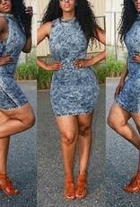 Mini robe bleue