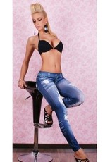 Jaza Fashion Damen Leggings Blau