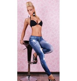 Jaza Fashion Women Leggings Blue