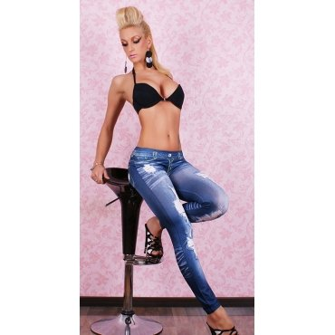 Jaza Fashion Leggings Bleu