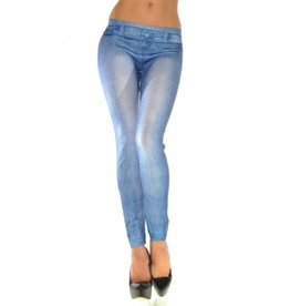 Jaza Fashion Damen Leggings Lässig Blau Blending