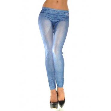 Jaza Fashion Damen Leggings Lässig Blau Blending
