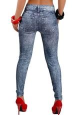 Jaza Fashion Women's Casual Elastic Blue Blending Leggings