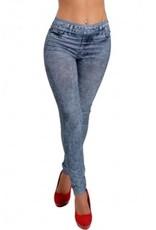 Jaza Fashion  Damen Beiläufige elastische Blau Blending Leggings