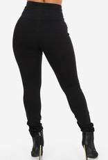 Jaza Fashion Women's Stylish High Waist Skinny Jeans Black