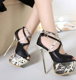 High Heel Pumps Snakeskin/Black