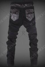 Herren Skinny Hosen mit Reißverschluss