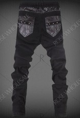 Men's skinny pants with zipper