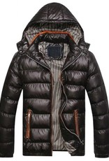 Men's winter jackets with zipper and hood Slim Fit