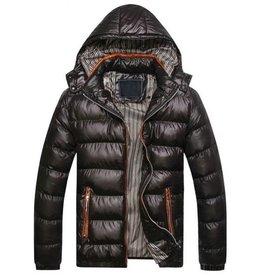 Vestes d'hiver pour hommes avec fermeture à glissière et capuche Slim Fit