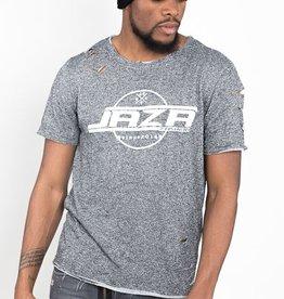 Jaza Fashion Jaza Fashion Herren T-Shirt Basic Regular Destroyed Zerrissen Schwarz