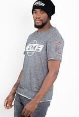 Jaza Fashion Jaza Fashion Herren T-Shirt Basic Regulär Destroyed Zerrissen Schwarz