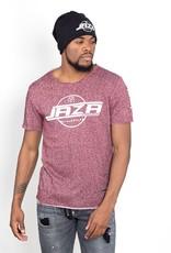 Jaza Fashion Jaza Fashion Herren T-Shirt Basic Regulär Destroyed Zerrissen Lila