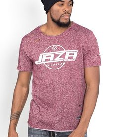 Jaza Fashion Jaza Fashion Men's T-Shirt Basic Regular Destroyed Torn Purple