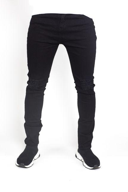 Herren Skinny Jeans Schwarz - Jaza Fashion 9153ce248b