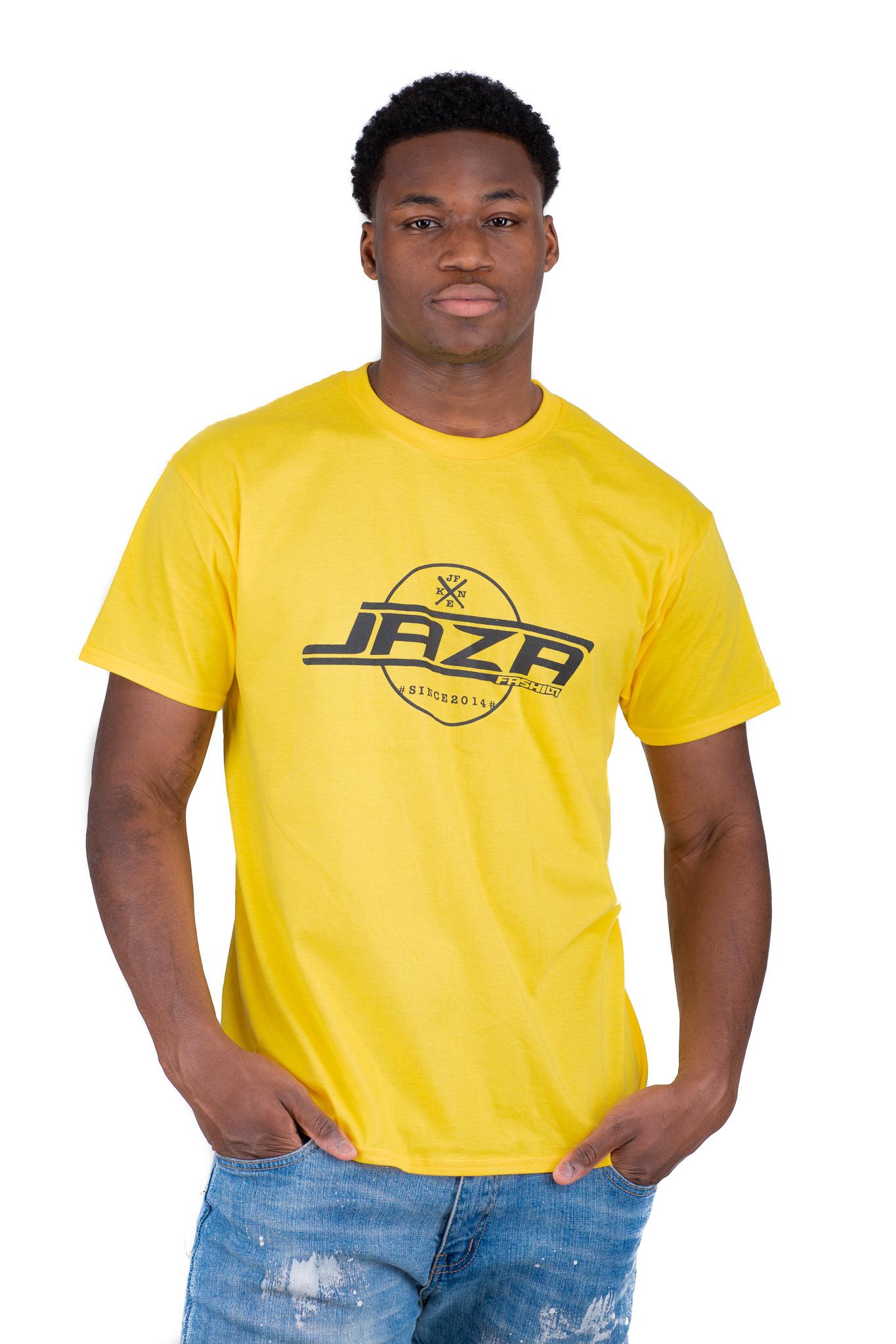 Jaza Fashion Jaza Fashion Herren T-Shirt en Jaune