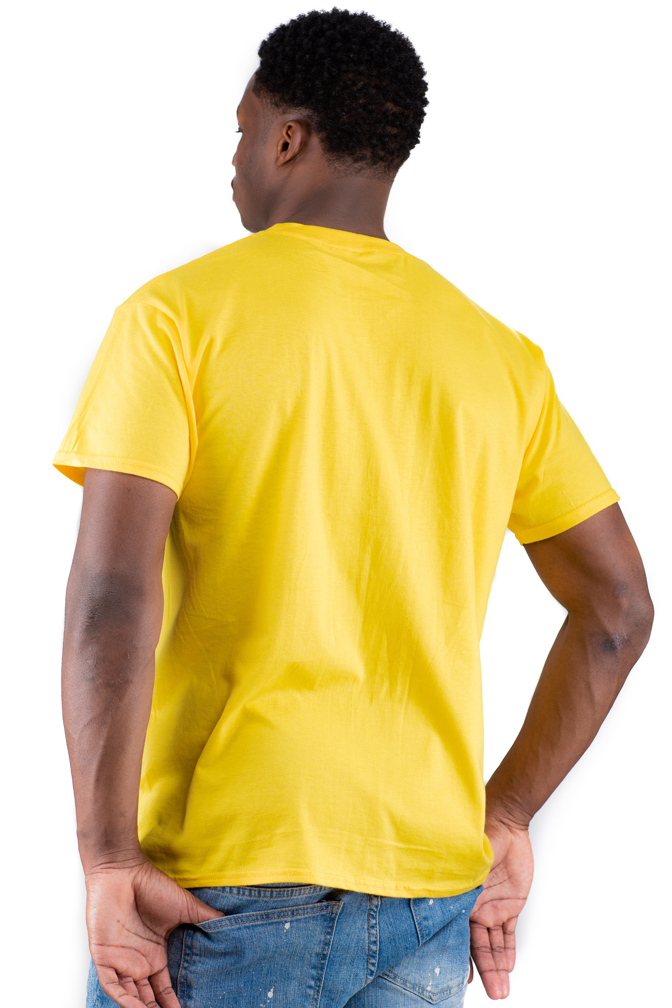 Jaza Fashion Jaza Fashion Herren T-Shirt in Yellow