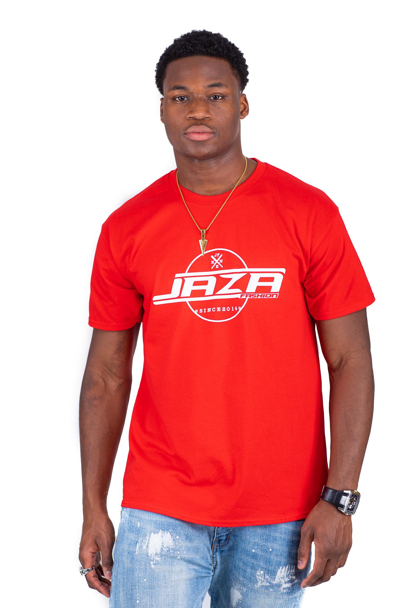 Jaza Fashion Jaza Fashion Herren T-Shirt en Rouge