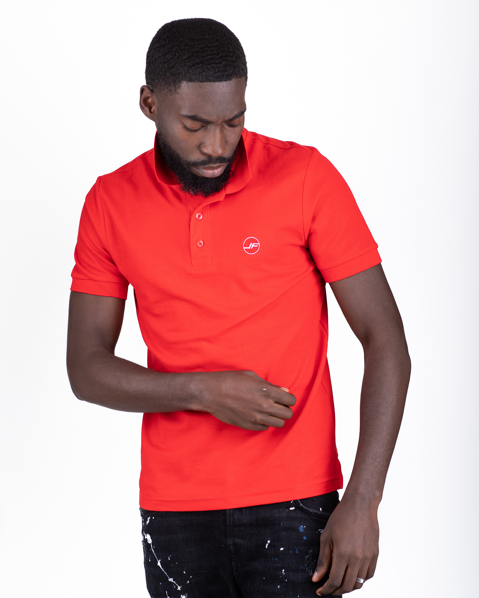 Jaza Fashion Jaza Fashion Polo shirt Rot